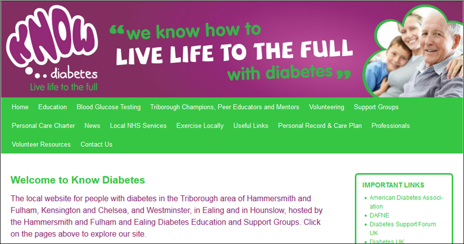 Hammersmith & Fulham and Ealing Diabetes Education & Support Groups